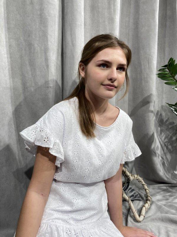 Konfi kjole DESI med flæser