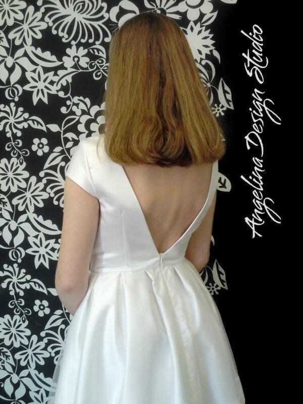 Konfirmationskjole ANNA med åben ryg