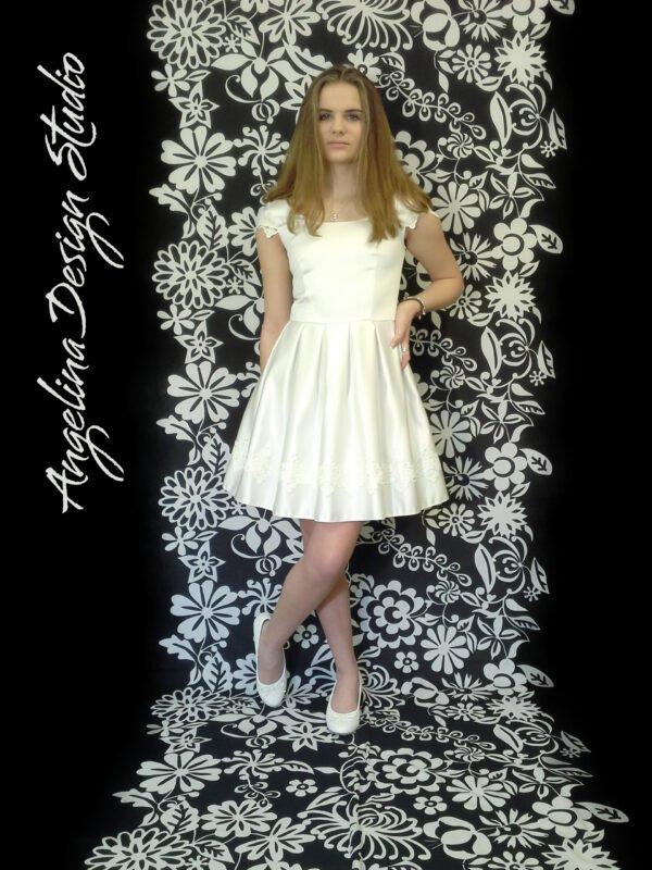 Konfi kjole med blonde FREJA