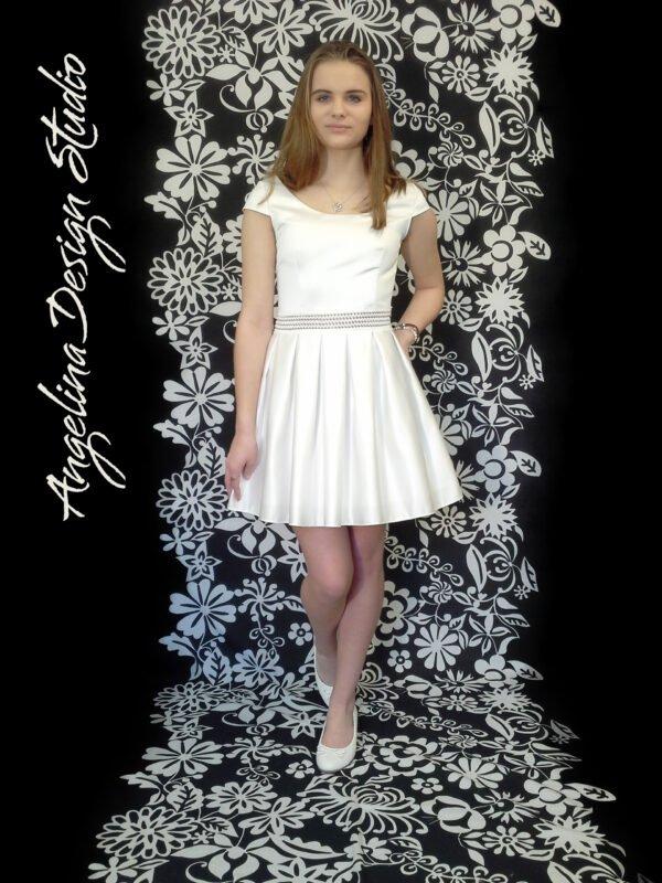 Konfi kjole med transparent CAROLINE