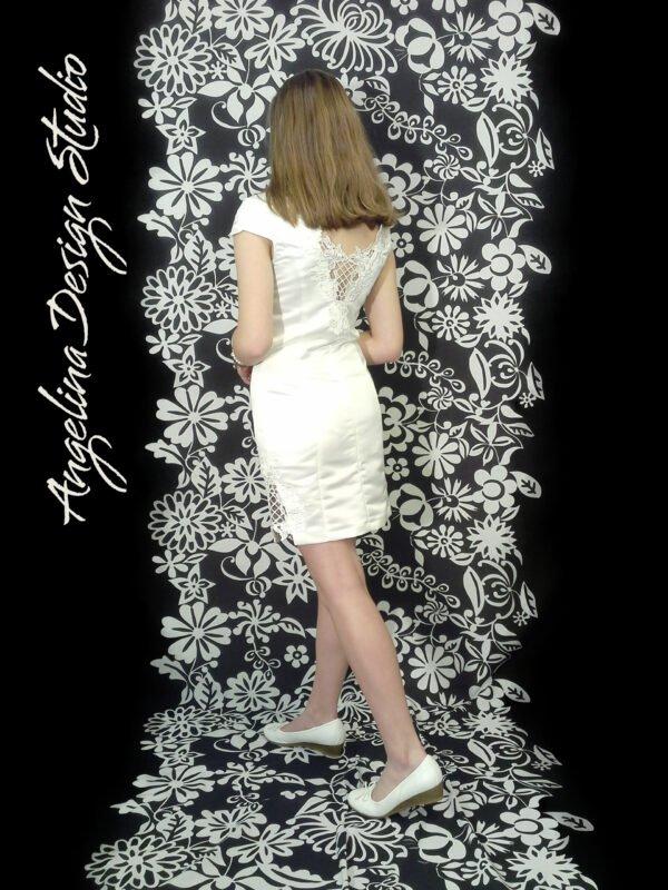 Konfir kjole med flotte blonde LEA