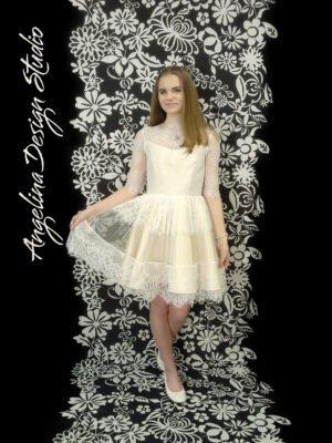 Konfi kjole med blonder LOUISE