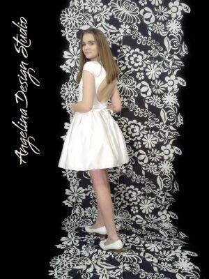 Konfi kjole med åben ryg ISABELLA