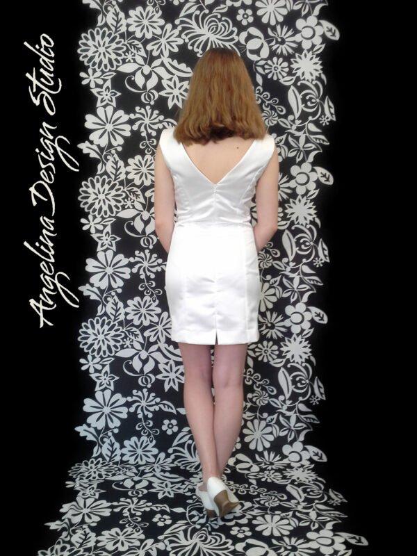 Konfirmationskjole CLARA uden blonde med åben ryg