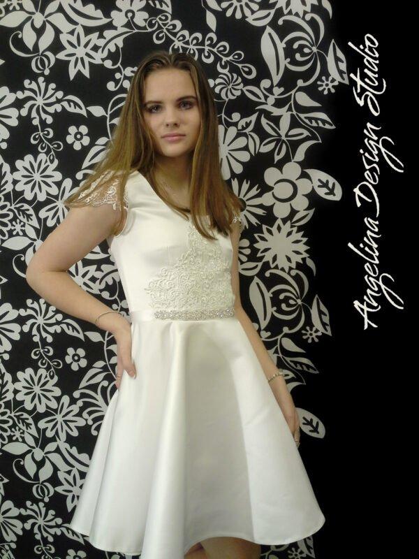 Konfi kjole blonde LUCCA med blonde